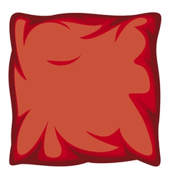 red pillow vector image vector image