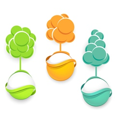 Set of trees icons vector image vector image