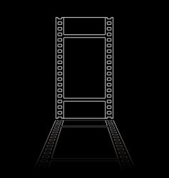 simple film reel illustration vector image