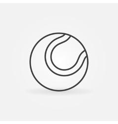 Tennis ball icon or logo vector image vector image