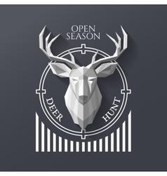 hunter socirty deer vector image
