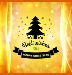merry christmas elegant poster vector image