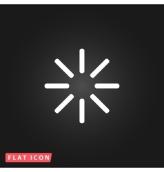 Waiting flat icon vector image vector image