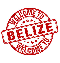 Welcome to belize vector