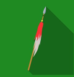 wooden spear with metal tipmongol tatar national vector image