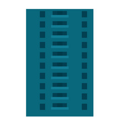 Abandoned city building icon flat style vector