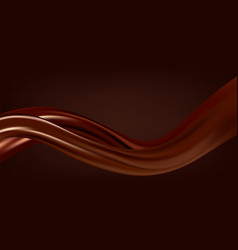 Abstract chocolate background brown drapery silk vector