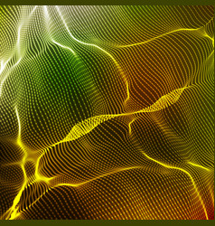 abstract colorful wave mesh vector image