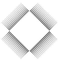 abstract square element with halftone art vector image