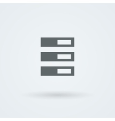 Archive folders for paper icon vector image