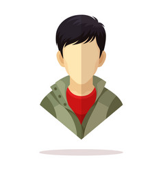 Asian men avatar vector