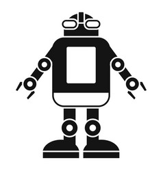 Automation machine robot icon simple style vector