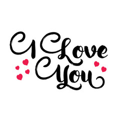 banner with inscription i love you vector image