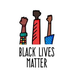 black lives matter banner design with african vector image
