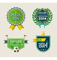Brazil vintage label set vector