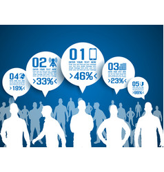 Business man infographic option three 3 vector