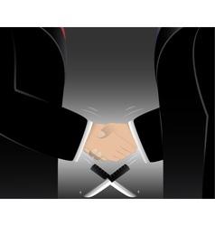 Business man shake hands vector