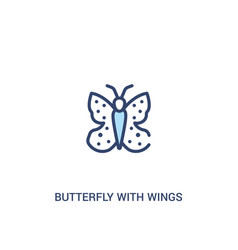 Butterfly with wings concept 2 colored icon vector