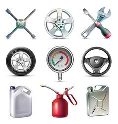 Car service tools icon set vector image