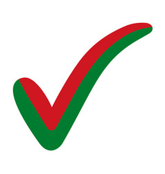 check mark belarus flag symbol elections voting vector image