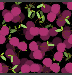 cherry pattern seamless cherries background food vector image
