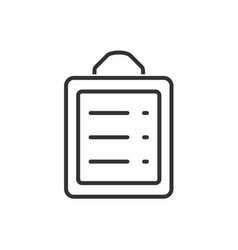 clipboard line icon on a white background vector image