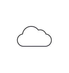 cloud weather thin line icon linear vector image