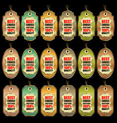 collection sale tags vector image