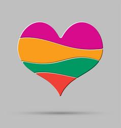 color heart element romance valentine day concept vector image