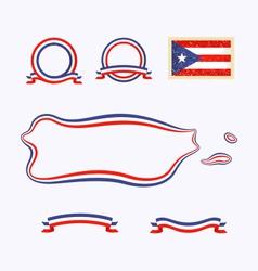 colors puerto rico vector image