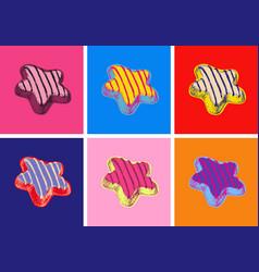 Cookies pop art style vector