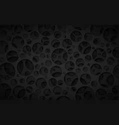 Crater black background vector