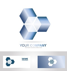 Cube 3d technology logo vector