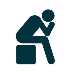 Depression icon symbol premium quality isolated vector