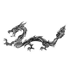 Doodle dragon vector image