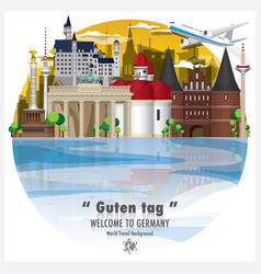 Federal republic of germany landmark global vector