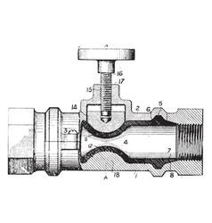 Fine threading valve vintage vector