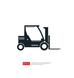 forklift truck icon warehouse fork loader vector image