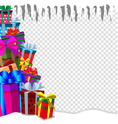 Greeting card clip art with heap of presens on vector