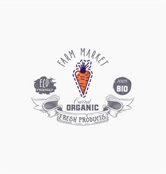 hand drawn carrot word on background vector image