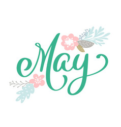 Hand sketched hello may text as logotype and vector