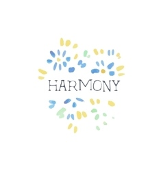 Harmony Natural Beauty Cosmetics Promo Sign vector