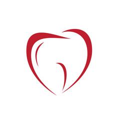 heart love dental vector image