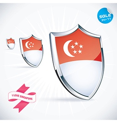 I Love Singapore Flag vector