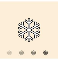 Icon of snowflake vector