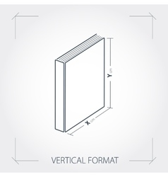Icon of vertical format photobook vector image