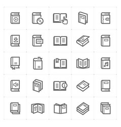 icon set - book vector image
