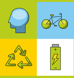 Icons set energy vector