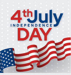 independence day social media banner isolated vector image