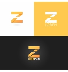letter Z logo design icon set background vector image